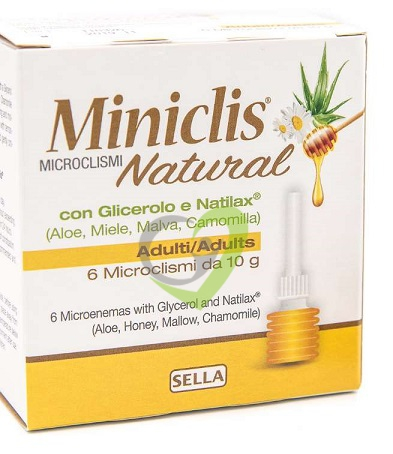 Miniclis Natural Microclismi Adulti - 6 pezzi