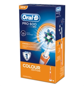 Oral B Linea Igiene Dentale Quotidiana Pro 600 CrossAction Spazzolino Arancione