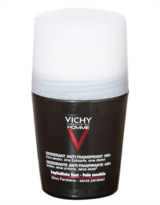 Vichy Homme Deodorante Antitraspirante 48h Roll On Pelle Sensibile - 50 ml